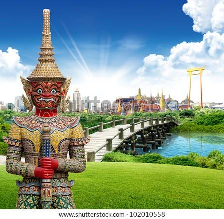 Thailand bangkok travel concept - stock photo