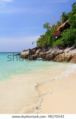 Thailand beach coast of Andaman turquoise sea