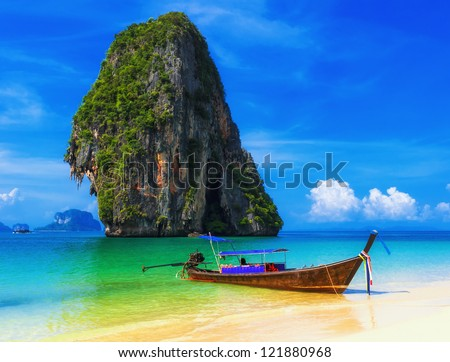 Thailand beach exotic island. Tropical paradise for Asia holiday - stock photo