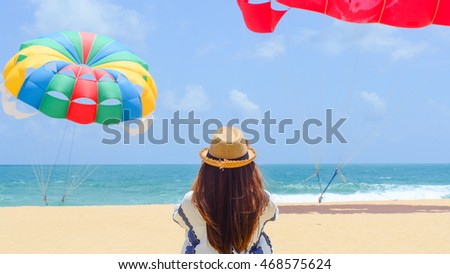 Thailand beach in Phuket traveling background vacation outdoor relaxing