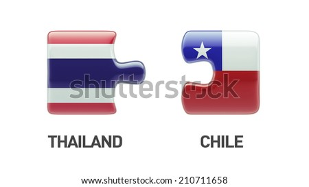 Thailand Chile High Resolution Puzzle Concept