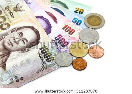Thailand Currency - stock photo