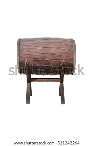 Thailand drum isolated on white background.