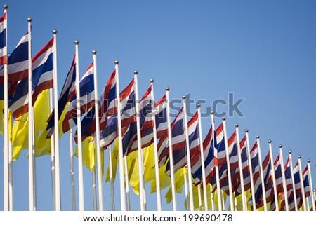 Thailand flag - stock photo