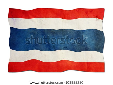 Thailand Flag made of Paper - stock photo