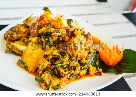 Thailand food crab curry.