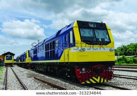 Thailand Freight train - stock photo