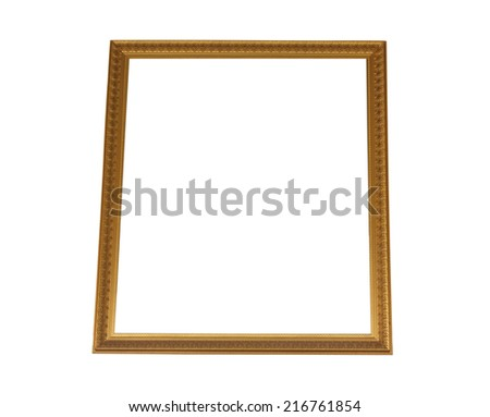 Thailand gold frame brooch P��¸�·a bright white background. - stock photo