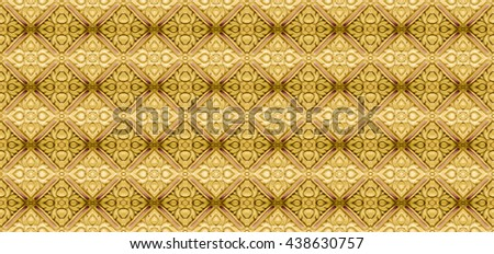 Thailand Gold striped pattern in temple