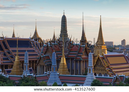 Thailand Grand Palace, Thailand Landmark, The most tourist destination in Bangkok - stock photo