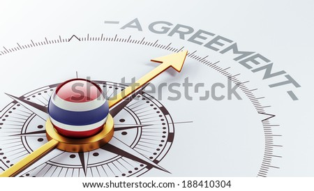 Thailand High Resolution Agreement Concept - stock photo