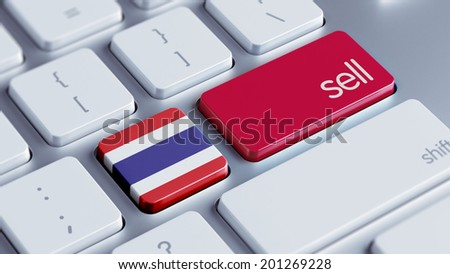Thailand High Resolution Sell Concept - stock photo