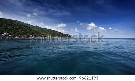 Thailand, Koh Nangyuan (Nangyuan Island), view of the island