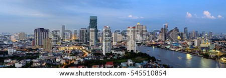 Thailand Landscape : Bangkok skyline view from high rise building
