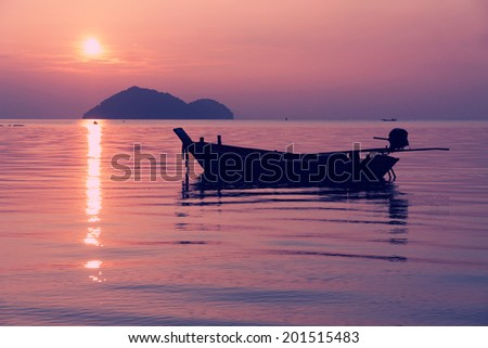 Thailand landscape with sunset.