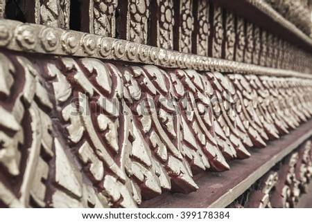 Thailand marks of Lai Thai pattern. An images of Thai Arts design. with clipping path