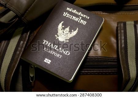 Thailand passport To travel abroad - stock photo