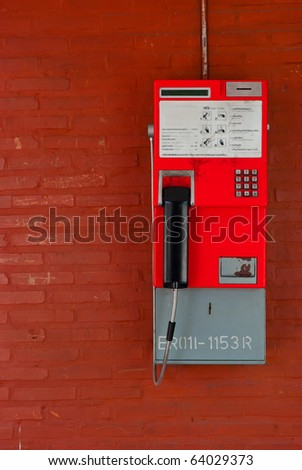 Thailand public pay phone - stock photo