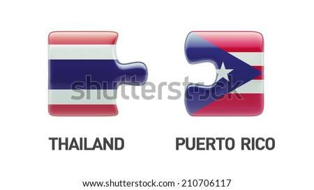 Thailand Puerto Rico High Resolution Puzzle Concept
