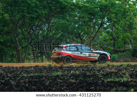 Thailand Rally 2016 Championship Field 2 in Lampang, Thailand.,May 29, 2016,Racing cars,Auto racing