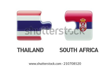 Thailand Serbia High Resolution Puzzle Concept