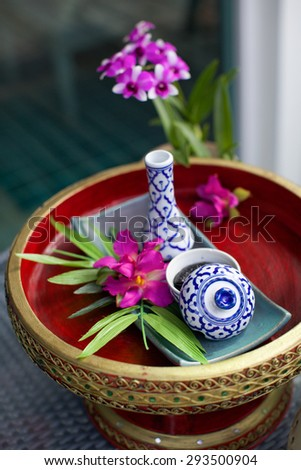 Thailand spa - travel and tourism image. - stock photo