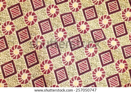 Thailand style rug surface close up vintage fabric is made of hand-woven cotton fabric More of this motif.
