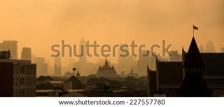 Thailand sunset - stock photo