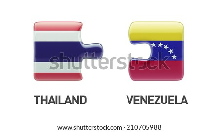 Thailand Venezuela High Resolution Puzzle Concept