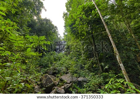 Thailand Waterfall in tropical forest - Phaeng Koh Phangan