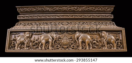 Thailand wood carving
