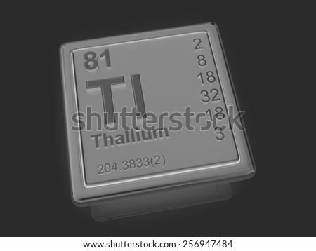 Thallium. Chemical element. 3d