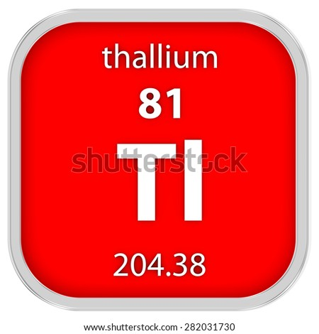 Thallium material on the periodic table. Part of a series. - stock photo