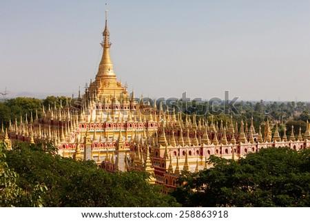 Thambuddhei Paya - Buddhist temple in Monywa, Myanmar - stock photo