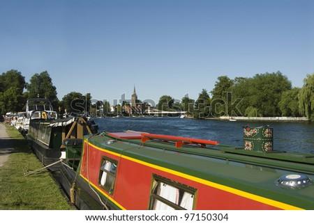 Thames at Marlow - stock photo