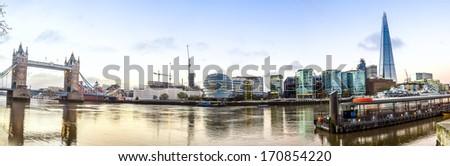 thames Panorama - stock photo