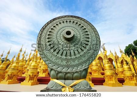 Thammachak in Thailand temple. - stock photo