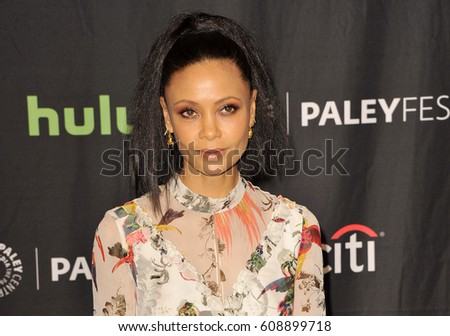 thandie newton at the 34th annual paleyfest los angeles presentation of westworld held at