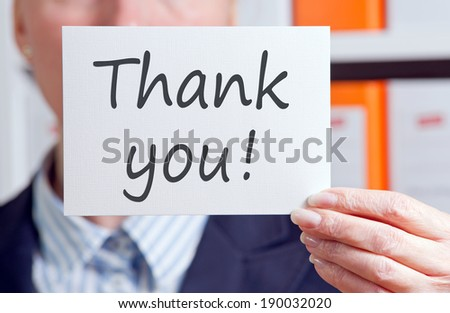 Thank you ! - stock photo