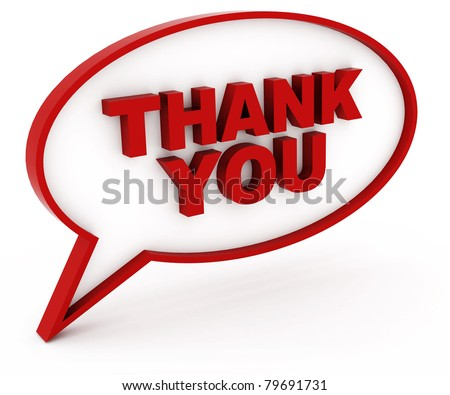 thank you - stock photo