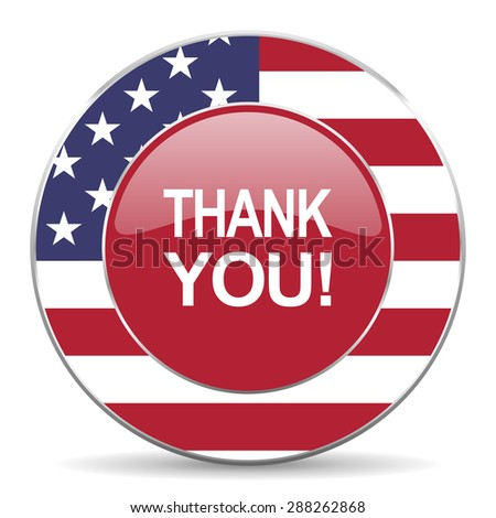 thank you american icon original modern design for web and mobile app on white background  - stock photo