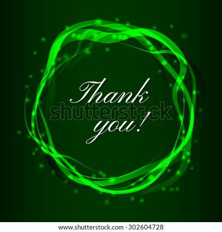 Thank you card - stock photo