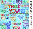 Thank you card. illustration. - stock vector