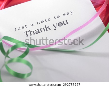 Thank you card with the ribbon