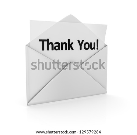 Thank you , computer generated image. 3d render. - stock photo