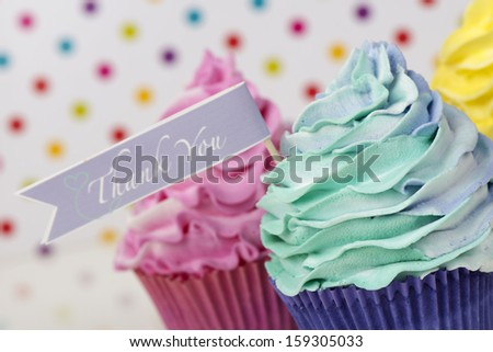 Thank you cupcake card design
