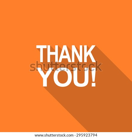 Thank You Typography Paper Art Craft Stock Vector