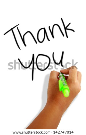 thank you greeting card - stock photo