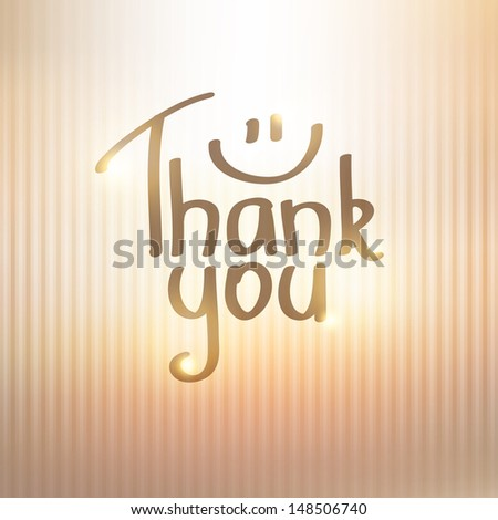 Thank You inscription, hand drawn illustration - stock photo
