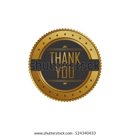 thank you label badge gold golden art